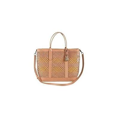 7b5738fb3eec Amazon.com  Cole Haan Bree City Tote Leather Weave Handbag Natural Woven Bag   Shoes
