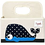 3 Sprouts Diaper Caddy, Whale Blue