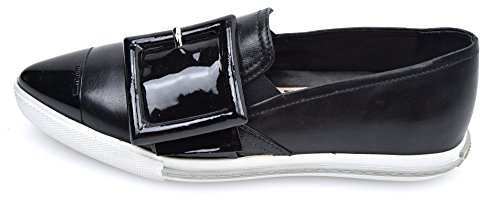 buy cheap websites clearance websites MIU MIU WOMAN SNEAKER SLIP ON SHOES BLACK LEATHER CODE 5S172A 37 NERO - BLACK clearance finishline pre order cheap price qY25qaZ
