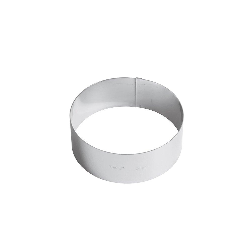 Paderno Anello per Torte/Coppapasta in Acciaio Inox 18/10, Diametro 6 cm, Altezza 6 cm 47534-06 Anello; torte; Acciaio; Inox