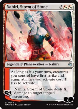 Magic Gathering Singles - Magic: The Gathering - Nahiri, Storm of Stone - War of The Spark