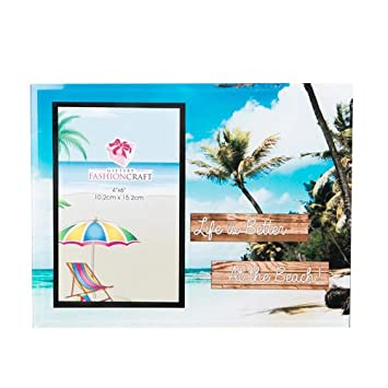 Amazoncom 18 Life Is Better At The Beach Glass Frames 4 X 6