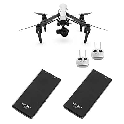 DJI Inspire 1 RAW Quadcopter with ZENMUSE X5R Camera and 3-Axis Gimbal - Bundle With 2x DJI Part 2 512GB SSD for Zenmuse X5R Camera