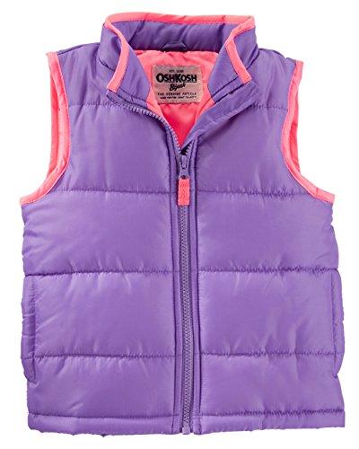 OshKosh Girl's Purple Puffer Vests (12M) ()