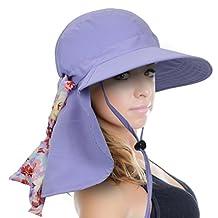 Sun Blocker Women's Sun Hat Wide Brim UPF50+ Beach Fishing Boating Neck Flap Cap