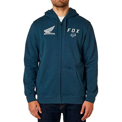 Honda Zip Hoody - Fox Racing Men's Honda Zip Hoody,Large,Navy
