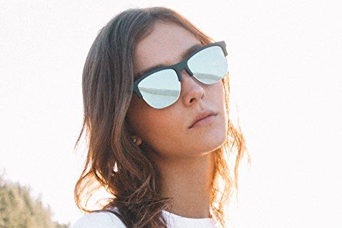 Unisexe Classic Noir Bleu lunettes Hawkers Flat Black Diamond Blue de Chrome soleil Ixwzq74