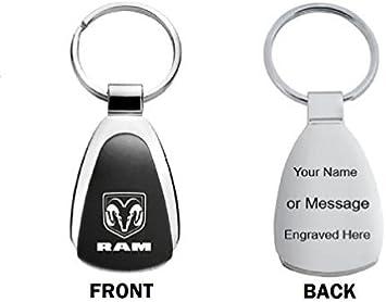 Dodge Keychain /& Keyring Black Teardrop