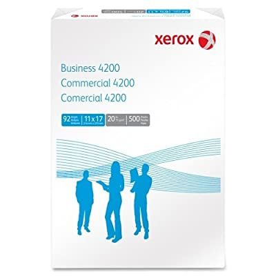 "Xerox Business 4200 Paper - Ledger/Tabloid - 11"" x 17"" - 20 lb - 92 Brightness - 500 / Ream - White"