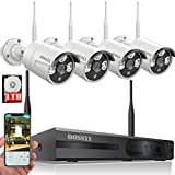 【2018 update】OOSSXX 8CH 1080P HD Wireless Video Security Camera System,4PCS 960P Megapixel Wireless Weatherproof Bullet IP Cameras,Plug and Play,70FT Night Vision,P2P,App, HDMI Cord&1TB HDD Pre-install