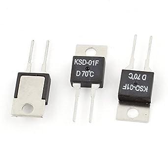 3 Pcs KSD-01F 70 Celsius normal Fechar Bimetal termostato ...