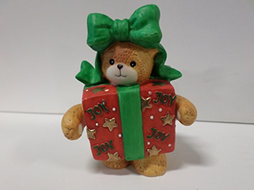 Teddy Enesco Bear - Lucy & Me Series (Enesco) **Teddy Bear Dressed as Wrapped Box Figurine ** 206520