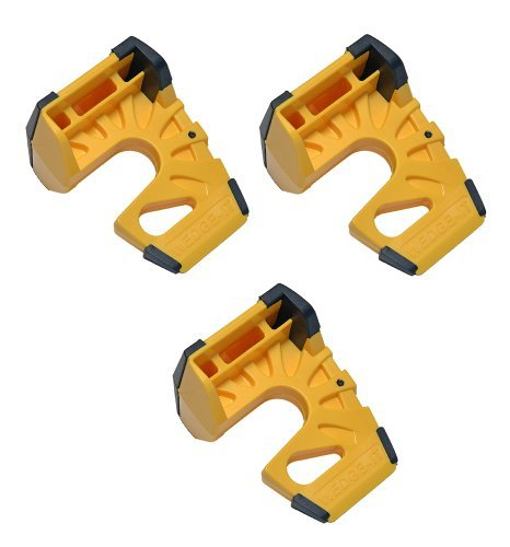 Wedge-It - The Ultimate Door Stop - Yellow (3 Pack)