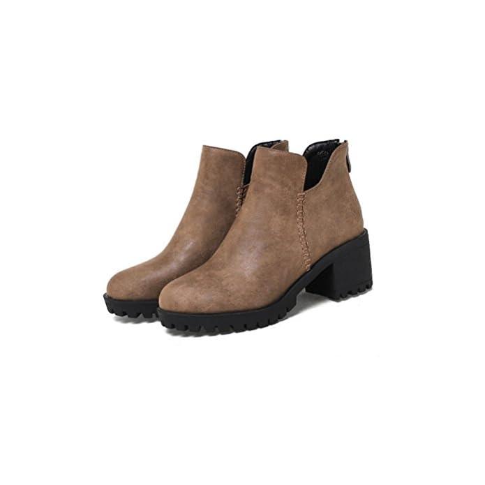 Taglia Heel Cerniera Piattaforma Xuexzix Ispessita Larga Corti Signora Caviglia Impermeabile 37 Libero Tempo Stivali