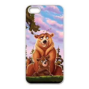 iPhone 5 5s Cell Phone Case White Brother Bear 2 Back Custom Phone Case Cover CZOIEQWMXN0066