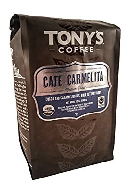 Buttery Caramel Coffee - Cafe Carmelita Medium Roast by Tony's Coffee - 12 oz. - Organic and Fair Trade Certified