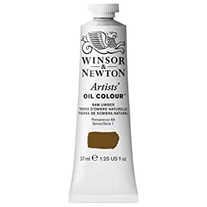 Winsor & Newton Artists Oil Color Paint Tube, 37ml, Raw Umber