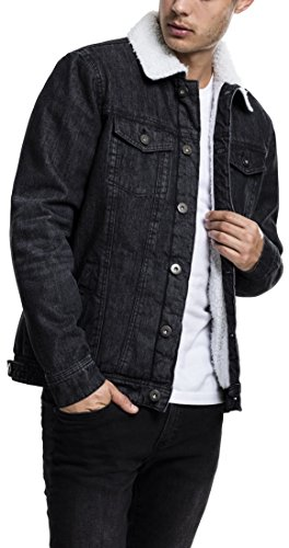 Denim Uomo Urban Jacket Giacca Classics Washed Sherpa 709 Schwarz black wHZv7Zaq