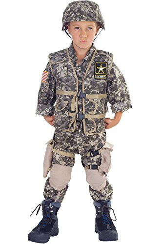 [Mememall Fashion Deluxe US Army Ranger Military Child Halloween Costume] (Deluxe Beetlejuice Adult Halloween Costumes)