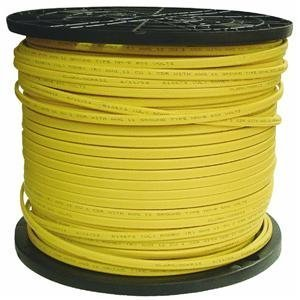 Southwire Building Wire 12 Ga, 2 Conductor 20 Amp 600 V 90 Deg C 1000 ' Yellow by Southwire