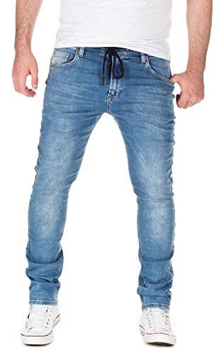Yazubi Herren Sweathose in Jeansoptik Skinny Fit, light blue (20032), W31/L32