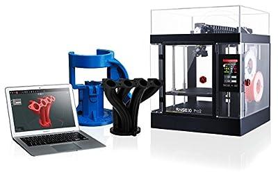 Raise3D 101016001 Pro2 3D Printer, Dual Extruder, Fully Enclosed