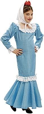 My Other Me - Disfraz de madrileña para niña, Talla 5-6 años, Color Azul (Viving Costumes MOM02146)