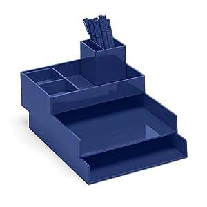 Amazon Com Super Stacked Desk Set Navy Letter Trays