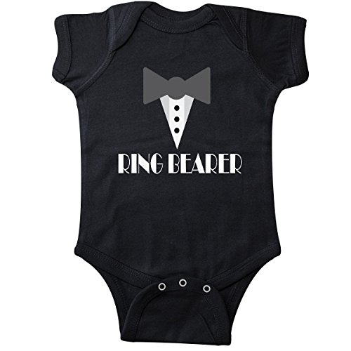 inktastic - Ring Bearer Mock Tux Tuxedo Infant Creeper 12 Months Black 223ea