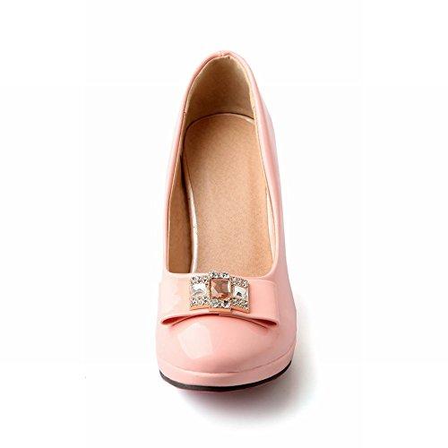 Carol Chaussures Doux Femmes Arcs Strass Plate-forme De Mariage Haut Talon Robe De Mariée Pompes Chaussures Rose