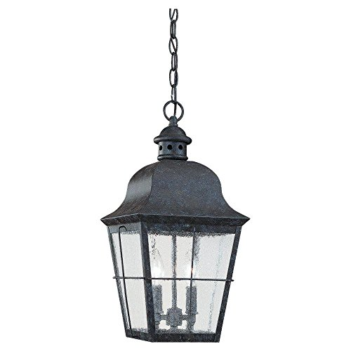 Two-Light Colonial Outdoor Pendant