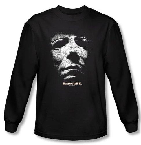Halloween II T-shirt Movie Michael Myers Adult Black Long Sleeve Shirt , (Halloween Laurie Strode)