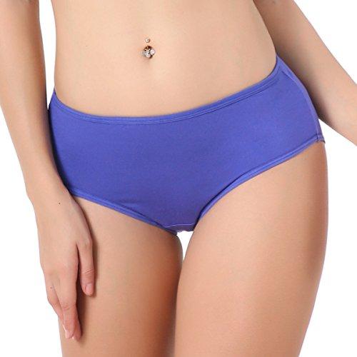 Bamboo Hipster - TEERFU 5Pack Womens Bamboo Brief Soft Underwear Breathable Panties 5Colors, 5 Pack-in 5 Colors, Medium