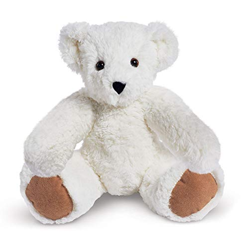 Mini Bear Teddy Collection - Vermont Teddy Bear Soft Cuddly Bear Stuffed Animals & Teddy, White, 15