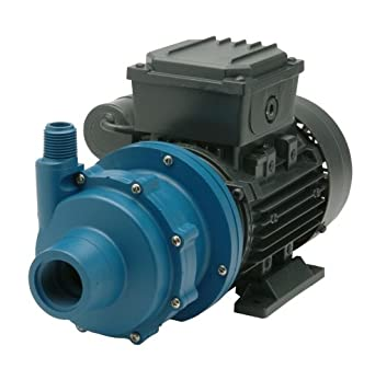 Finish Thompson DB4P-M613 Centrifugal Magnetic Drive Pump, Polypropylene, 1/4 HP, 115V, 1 Phase, 29.2 Max Feet of Head, 18 gpm