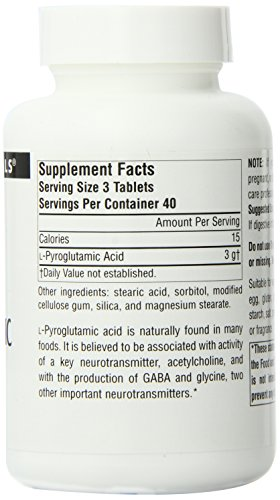 Source Naturals L-Pyroglutamic Acid, 1000mg, 120 Tablets (Pack of 12) by Source Naturals (Image #3)