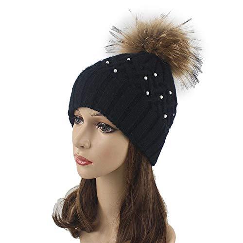 Women's Beanies Trendy Knitted Hats Pom Pom Female Classic Skullies Caps
