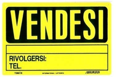 Cartel vendés maxi de plástico PVC amarillo 30 x 45 ideal ...