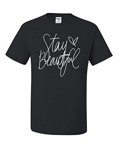 Stay Beautiful Lyric Song Fashion Tee Graphic Unisex T-Shirt - ( 2XL , Black ) (Fun Halloween Song Lyrics)