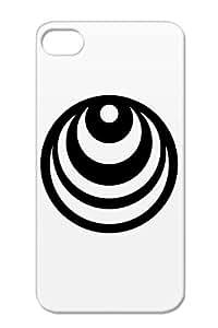 Retro Circle Retro Circle Globe Miscellaneous Art Design Anti-scuff TPU For Iphone 4s Black Case