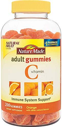 Nature Made Adult Gummies 200 CT Vitamin C Dietary Supplement, Orange