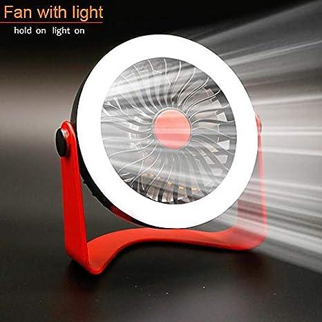 Adaap Portable Mini Table Desk Fan with Light Simple Mini USB Fan Desk Charging Rechargeable Small Fan for Home Office Outdoor Travel