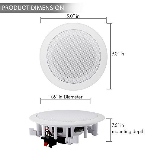 Pair Wireless Home Speakers System 200w 6 5 Inch With