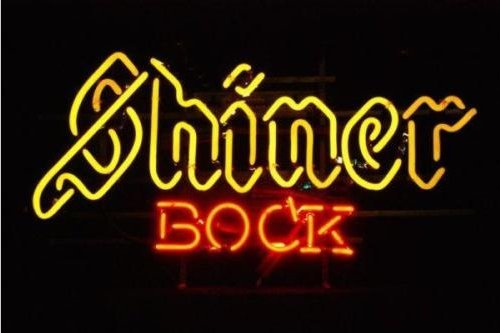 Shiner Bock Display Beer Bar Pub Club Neon Sign Display Store Beer Bar Pub Real Handicrafted Real Glass Tube19x15 The Fastest Free Shipping - - Amazon.com