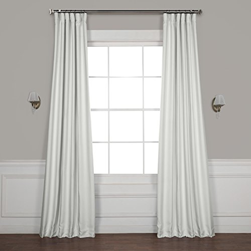 HPD HALF PRICE DRAPES BOCH-LN1855-96 Faux Linen Blackout Room Darkening Curtains, 50 X 96, Oyster