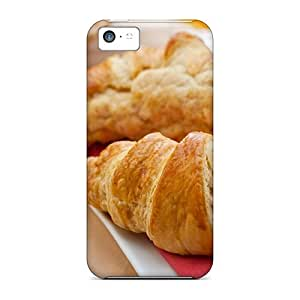 Premium PMs21700cnph Cases With Scratch-resistant/ Fresh Croissants And Jam Cases Covers For Iphone 5c