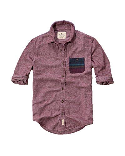 hollister-mens-front-button-down-shirt-l-burgundy-pattern