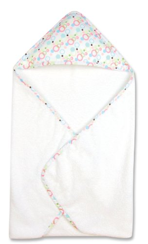 Trend Lab Brown Bubbles - Trend Lab Hooded Towel, Cupcake