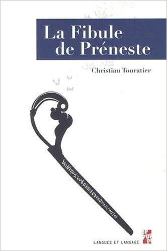 Lire en ligne La Fibule de Préneste pdf epub