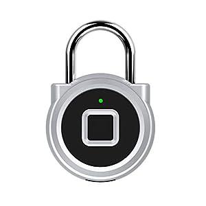 Lucchetto Di Impronte Digitali, in Metallo Impermeabile Collegamento Bluetooth, La Ricarica IP65 Impermeabile USB, Adatto A Porta, Valigia, Zaino, Palestra, Bici, Ufficio